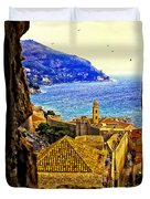 Key Hole View Of Dubrovnik 2 Duvet Cover