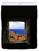 Key Hole View Of Dubrovnik Duvet Cover