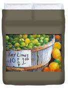 Key Limes Ten For A Dollar Duvet Cover