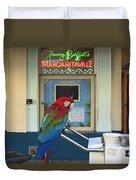 Key West - Parrot Taking A Break At Margaritaville Duvet Cover