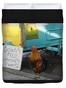 Key West - Rooster Making A Living Duvet Cover
