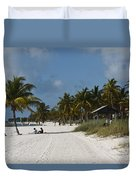 Key West - Smathers Beach Duvet Cover