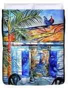 Key West Still Life Duvet Cover