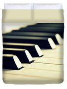 Keyboard Of A Piano Duvet Cover by Chevy Fleet