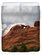 Keyhole To Pikes Peak Duvet Cover