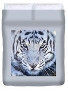 Khan The White Bengal Tiger Duvet Cover