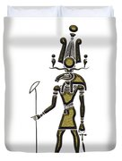 Khensu - God Of Ancient Egypt Duvet Cover