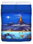 Kilauea Volcano Hawaii Duvet Cover