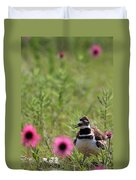 Killdeer And Tennessee Coneflowers Duvet Cover