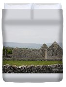 Kilmacduagh Church Ruin Duvet Cover