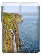 Kilt Rock Waterfall Duvet Cover