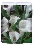 Kim's Flowers Duvet Cover