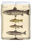 Kinds Of Trouts Duvet Cover