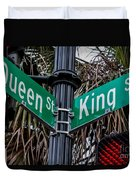 King And Queen Street Duvet Cover