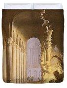 King Asa Of Judah Destroying The Statue Duvet Cover by Francois de Nome