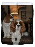 King Charles Dogs Duvet Cover