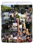 King Kamehameha Draped Duvet Cover