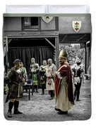King Macbeth Of Scotland With The Bishop Duvet Cover