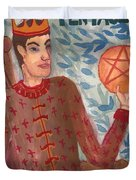 King Of Pentacles Duvet Cover
