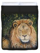 King Of The African Savannah Duvet Cover