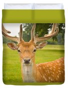 King Of The Spotted Deers Duvet Cover