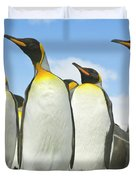 King Penguins Looking Duvet Cover