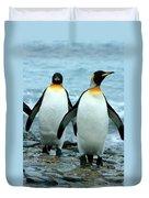 King Penguins Duvet Cover