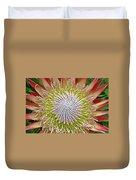 King Protea Flower Macro Duvet Cover