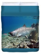 King Salmon And Dardevle Duvet Cover