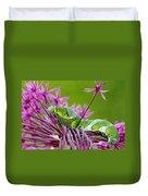 King Swallowtail Caterpillar Duvet Cover