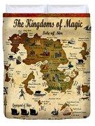 Kingdoms Of Magic Battle Map Duvet Cover