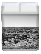 Kings Canyon Black And White Duvet Cover