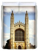 King's College Chapel Duvet Cover