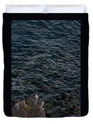Seagulls At Cliffs Ready To Fish In Mediterranean Sea - Kings Of The World Duvet Cover