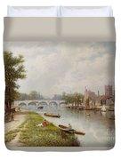 Kingston On Thames Duvet Cover by Robert Finlay McIntyre