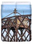 Kinnickinnic River Swing Bridge  4 Duvet Cover