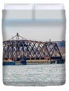Kinnickinnic River Swing Bridge Duvet Cover