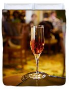 Kir Royale In A Champagne Glass Duvet Cover