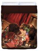 Kiss At Christmas Duvet Cover