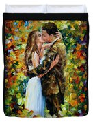 Kiss In The Woods Duvet Cover