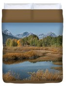 Kiss Of Fall In The Grand Tetons Duvet Cover