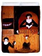 Kisses  - 50 Cents Duvet Cover