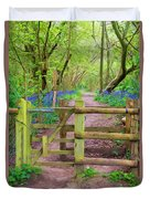 Kissing Gate Painting. Duvet Cover