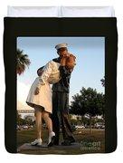 Kissing Sailor At Dusk - The Kiss Duvet Cover