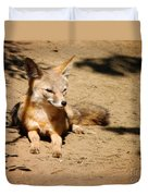 Kit Fox On Campus Duvet Cover