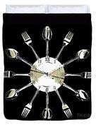 Kitchen Clock Duvet Cover