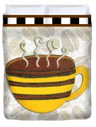 Kitchen Cuisine Hot Cuppa No14 By Romi And Megan Duvet Cover