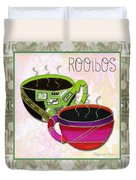 Kitchen Cuisine Rooibos Tea Party By Romi And Megan Duvet Cover