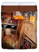 Kitchen - Food - Meat - Cheese - Eggs Duvet Cover