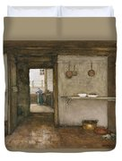 Kitchen Interior, C.1899 Duvet Cover